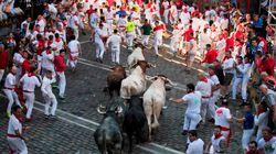 El tercer encierro de San Fermín termina con varios heridos por traumatismos y