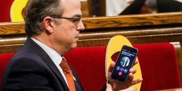 Jordi Turull en la sesión constitutiva del