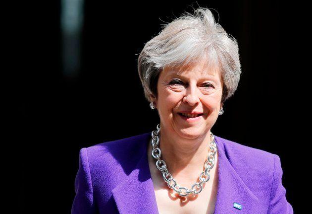 La primera ministra británica, Theresa May, el pasado 4 de julio a la salida de su residencia en Downing