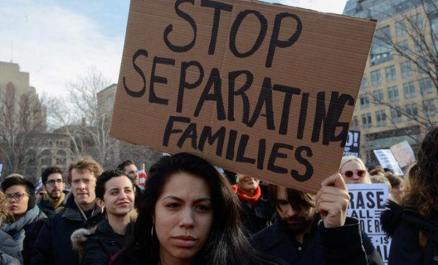 Protesta en Nueva York contra las políticas migratorias de