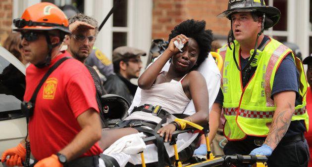 Una mujer herida en Charlottesville,