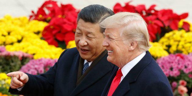 El presidente chino, Xi Jinping, con Donald