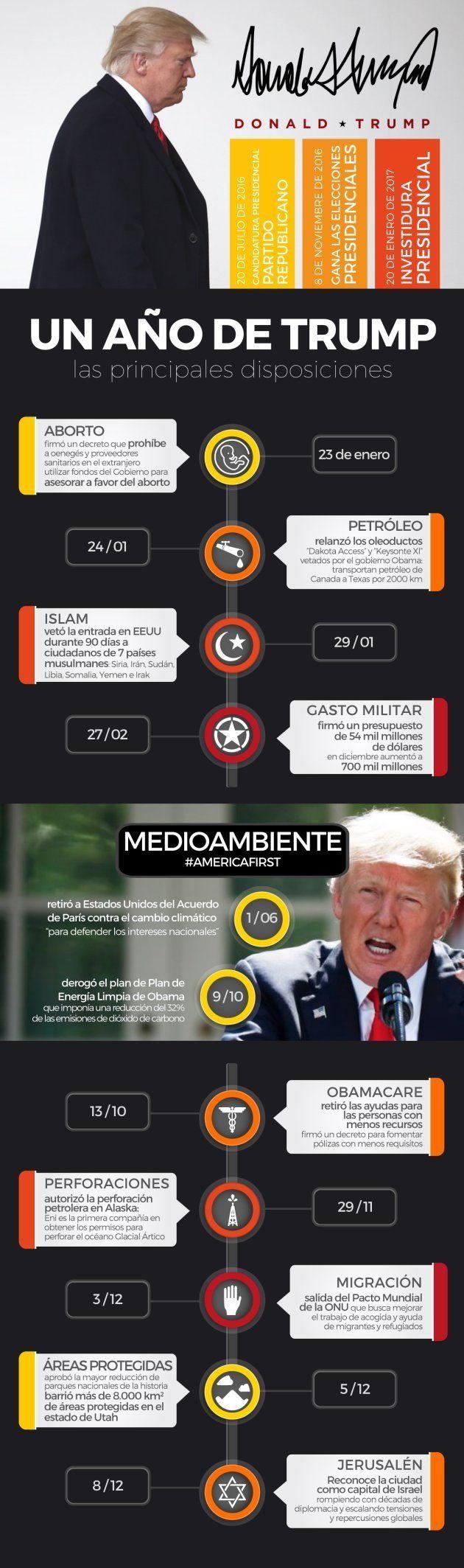 Cronología del primer año de Trump, día a