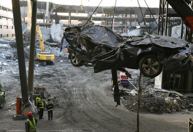 Daños causados por el atentado de ETA en la T4 del Aeropuerto Adolfo Suárez Madrid-Barajas, en