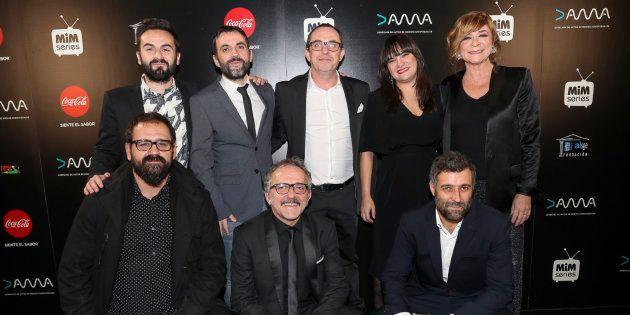 El equipo de 'Fariña' en los premios MiM