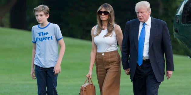 La familia Trump a su llegada a la Casa