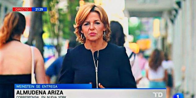 Almudena Ariza durante una conexión en