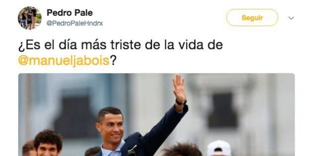 Le preguntan a Manuel Jabois si es el día más triste de su vida por lo de Ronaldo y no sabemos qué decir...