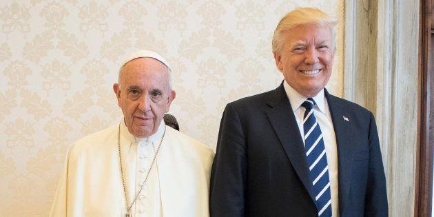 Donald Trump y el papa Francisco, el 24 de mayo de 2017 durante una audiencia en el