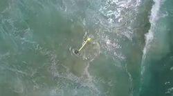 Rescatan a dos bañistas en Australia gracias a un dron en