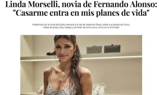Nuria Roca estalla al ver este titular sobre la novia de Fernando Alonso: