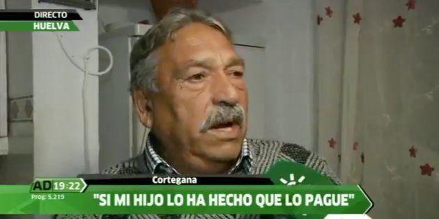 Manuel Montoya, padre del detenido, entrevistado en Canal Sur