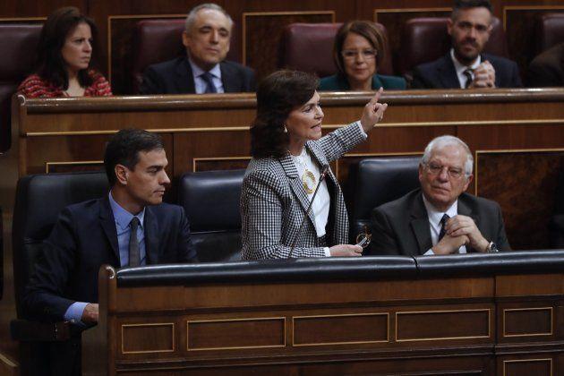 Enfrentamiento entre Carmen Calvo y Dolors