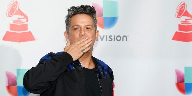 Alejandro Sanz, en los Latin Grammy el 16 de noviembre de 2017 en Las
