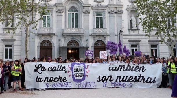Protesta frente al Tribunal Supremo (Madrid) el 4 de mayo del 2018 contra la sentencia a 'La