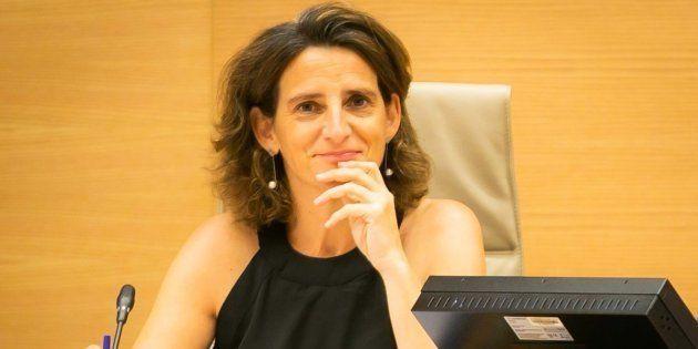 La ministra para la Transición Ecológica, Teresa Ribera, en el Congreso de los