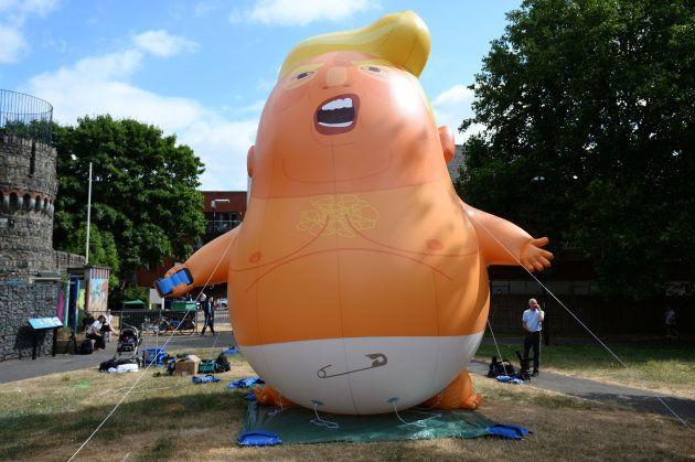 Así ridiculizarán a Trump en su visita a