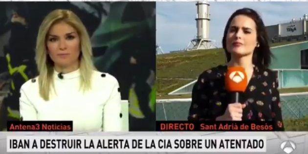 Un micro abierto le juega una mala pasada a una reportera de Antena 3 en pleno