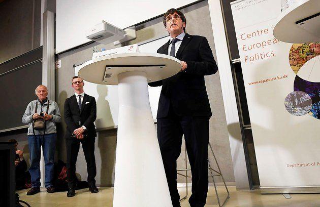 Carles Puigdemont, durante el