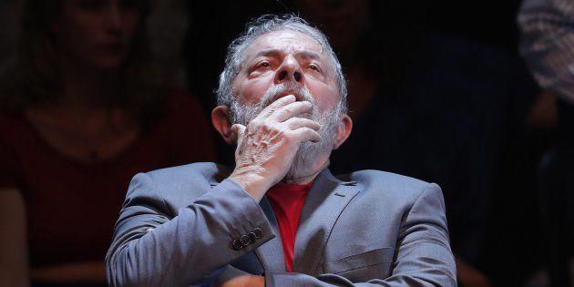Luiz Inácio Lula da Silva, durante un acto político en Río de Janeiro, el pasado