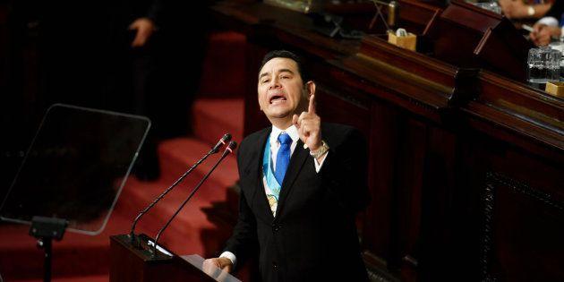 El presidente de Guatemala, Jimmy