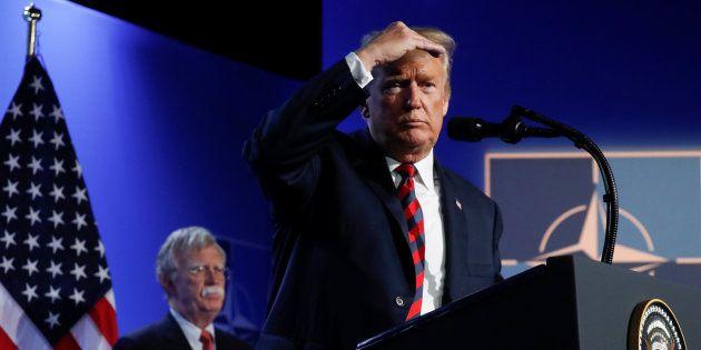 El presidente de EEUU, Donald Trump, durante la rueda de prensa en