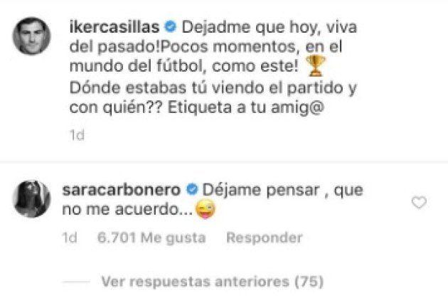 La inesperada respuesta de Sara Carbonero a esta publicación de Casillas sobre el