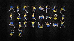 Crean un alfabeto con la figura de Neymar tirándose al
