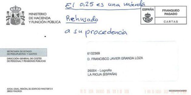 El exsecretario general de UGT de La Rioja devuelve al Gobierno la carta de la subida de sus pensiones:...