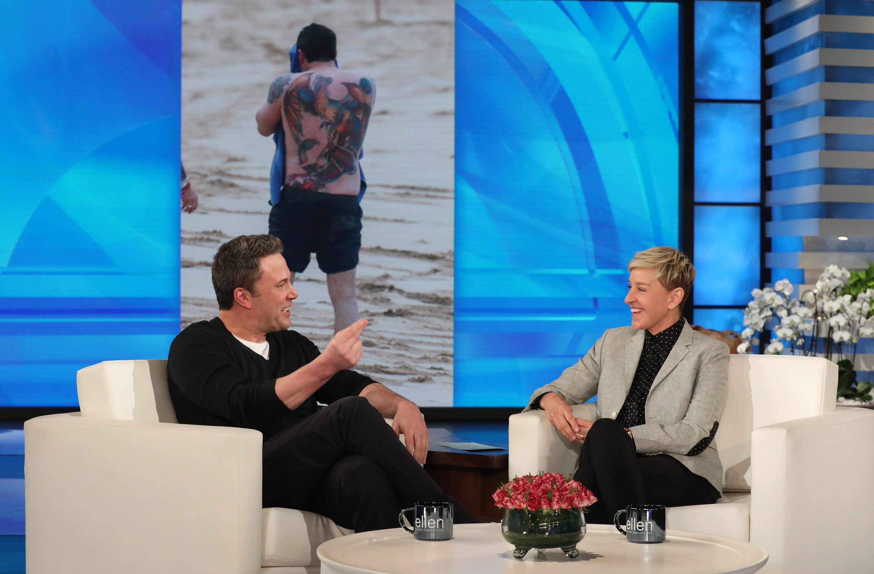 Ben Affleck Doesn't Care If You Hate His Back Tattoo