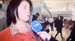 El tenso directo de TVE en El Prat: