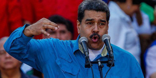 El presidente venezolano, Nicolás