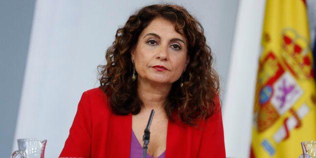 María Jesús Montero, ministra de Hacienda, en la rueda de prensa posterior al Consejo de Ministros en
