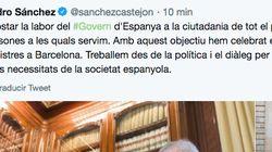 El tuit en catalán de Sánchez tras el Consejo de