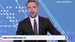 La pillada a Carlos Franganillo en pleno Telediario de TVE cuando informaba sobre Cataluña: