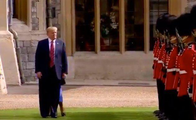 Trump exaspera a la reina Isabel II de Inglaterra durante la revista a la Guardia
