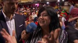 La madre de Nerea, la niña que ha puesto emoción a la Lotería de Navidad