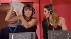 El extraño momento de las presentadoras de Televisión