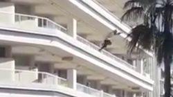 Un turista británico drogado salta desde el cuarto piso de unos apartamentos de Gran
