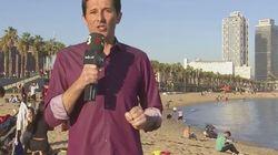 El momento surrealista vivido por este meteorólogo de TV3 en pleno