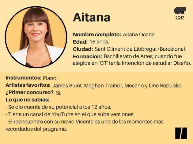 Ficha de Aitana 'OT': la más pequeña de la Academia y con una fuerte pasión por la