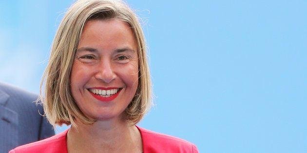 Federica Mogherini, la pasada semana, a su llegada a la cumbre de la OTAN en