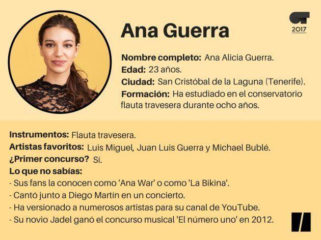 Ficha de Ana Guerra 'OT': de actriz de musicales a convertirse en 'La
