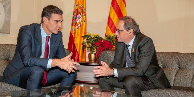 Pedro Sanchez y Quim Torra, reunidos el pasado 20 de diciembre en