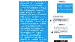Un tuitero escribe a Jordi Cruz para quejarse y destapa