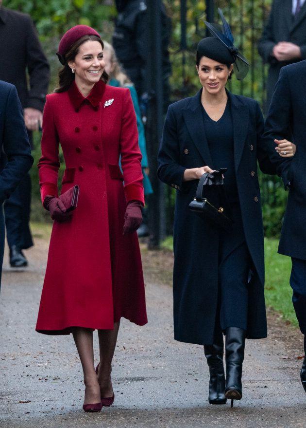 Kate Middleton y Meghan Markle, el 25 de diciembre de
