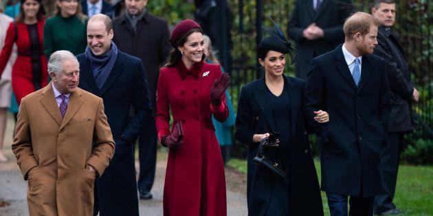 Los duques de Cambridge, los de Sussex y el príncipe Carlos de