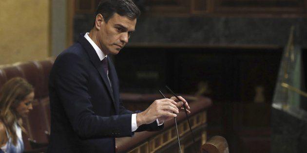 El presidente del Gobierno, Pedro Sánchez, este