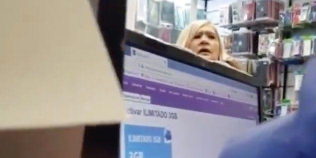 Captura del vídeo difundido por Es