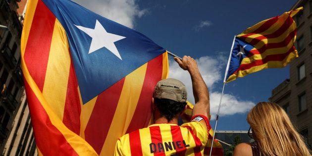 Independentistas catalanes, en una imagen de
